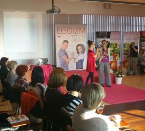 """Joga 25.10.2014 w Krakowie w ramach projektu """"Pozytywna Egoistka"""" (www.projektegoistka.pl)"""
